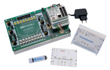 Controllino-Trainingsboard, training system with exercises for Controllino Maxi und Maxi Automation (without Controllino Modul)