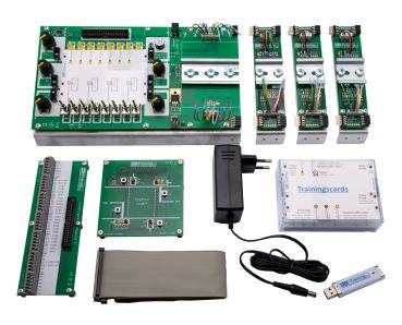 easy-Trainingsboard - SET, PLC Trainer for EATON easyE4 + 8TE1/8RE1 and 6AE1 (without easyE4 Module)