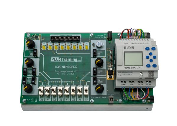 Siemens Logo! 8 12/24 RCE - PLC Trainer: Training am Logo8-Trainingsboard